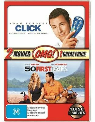 AU11 • Buy 50 First Dates / Click  2 Movies - Adam Sandler  (DVD 2011) New And Sealed R 4