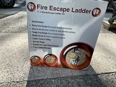 Brand Ladder Fire Escape Ladder 2-3 Storeys 7 Meter New In Box • 5£