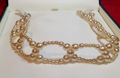 Faux Pearl Choker Necklace • 1.50£