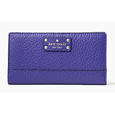 $ CDN37.81 • Buy  Kate Spade Stacy Bay Street Bifold Leather Wallet Purple (color Bajablue) NWT