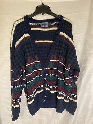 $25 • Buy Etchings Vintage Button Down Long Sleeve Cardigan Sweater Men's Size Med
