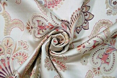 £13.99 • Buy Old Gold Silk Floral Fabric By Madison 110 W - Crafts/Curtain/Cushion/Upholstery