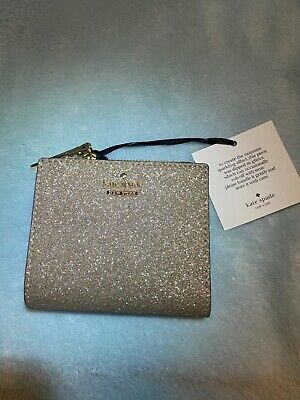 "$ CDN22.05 • Buy Kate Spade New York Burgess Court ""Adalyn"" Wallet In Rose Gold Sparkle, BNWT"
