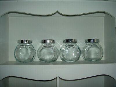 IKEA-Glass Herb & Spice Rack Jars With Lids | Kitchen Tidy Storage Containers • 7£