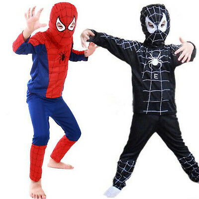 £8.54 • Buy Kid's Boys Spiderman Costume Cosplay Superhero Up Outfits Clothes Fancy Dressing