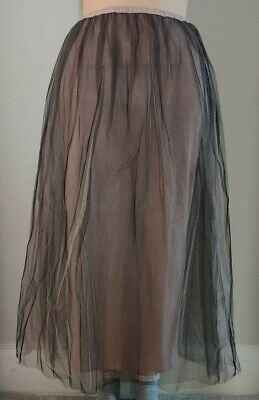 🔴Oasis Floor Length Long Net Skirt With Lilac Lining Summer Part 🔴 • 3£