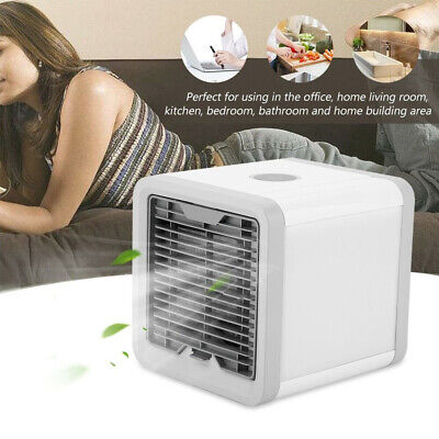 AU18.89 • Buy Fan Mini Portable USB Conditioner Air Cooler LED Personal Desk Cooling NEW
