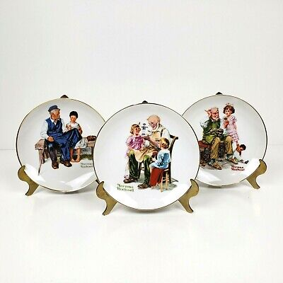 $ CDN9.48 • Buy Lot Of 3 Norman Rockwell Plates  Toymaker, Lighthouse Keepers Daughter, Cobbler