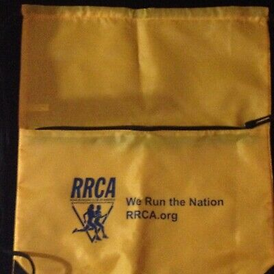 RRCA Road Runner Club America Golf GYM SACK CINCH BAG Running Fitness Travel NEW • 7.11£