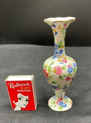 $ CDN87.01 • Buy Vintage Royal Winton Small Bud Vase Old Cottage Chintz Grimwades Minor Crazing
