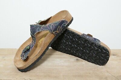 Women's Gizeh Birkenstock Papillio Denim Sandals UK Size 4 • 40£