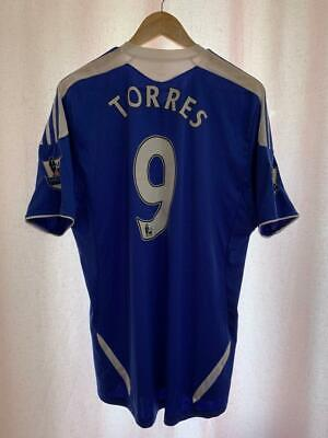 Chelsea London 2011/2012 Home Football Shirt Jersey Size L Fernando Torres #9 • 59.99£