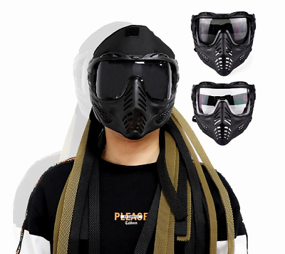 $39.99 • Buy Airsoft Paintball Tactical Mask Anti Fog Full Face CS Protective Military Helmet