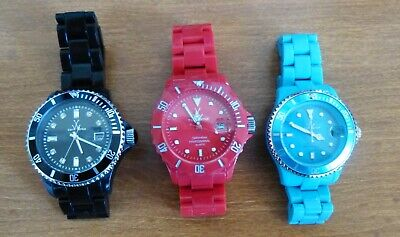 $ CDN63.27 • Buy ToyWatch Lot Of Three Watches - Black, Blue And Red