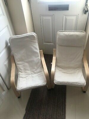 IKEA Poang Kids Chair~ Padded  Washable Removable Cover (pair) • 10£