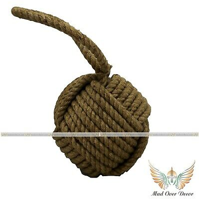 Handmade Collectible Knot Jute Rope Door Stopper Vintage Home Decoration Item • 27.99£