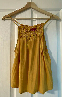 AU18 • Buy Tigerlilly Tailored Camisole Tee/Top/Tank In Yellow. Size 8. RRP $139