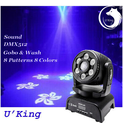 100W Gobo Beam Moving Head LED Stage Light 18/13CH DMX DJ Wedding KTV Lighting • 96.99£