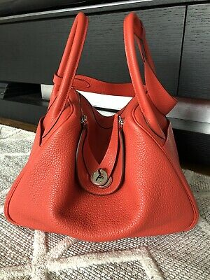 AU7900 • Buy As New Hermes Lindy 30 Full Set Box Rouge Pivoine 2R Pink Coral Red Stamp R