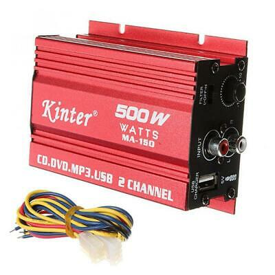AU24.69 • Buy RMS 500W Car Amplifier 2 Channel Stereo DC 12V Power Amp Audio Truck Speakers