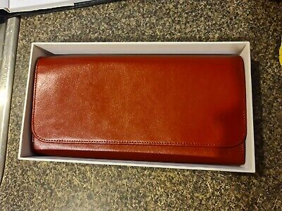 AU15 • Buy Kikki K Leather Red Travel Document Wallet In Box Unused Organiser