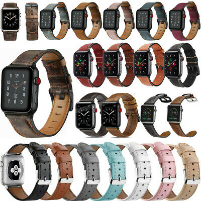 $ CDN10.82 • Buy 38/42mm 40/44mm Leather IWatch Band Strap For Apple Watch Series SE 6 5 4 3 2 1