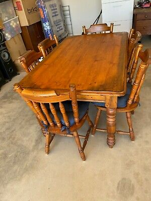 AU200 • Buy Treated Pine Dining Table With 6 Chairs - 1550 X 930mm Wide