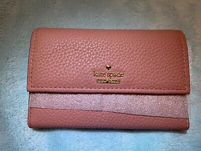 "$ CDN8.82 • Buy Kate Spade New York Jackson Street ""Meredith"" Wallet In Pink Leather BNWT £90"
