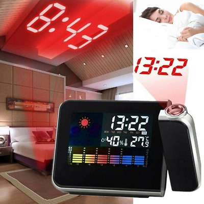 AU15.99 • Buy Digital LED Alarm Clock Time Projection Temperature Projector LCD Display AU