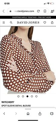 AU20 • Buy Ladies Witchery Spot Top Size 10 New Without Tags $119.95