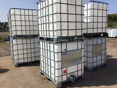 IBC Water Tank 1000 Litre Container Storage Cage Tap Outlet And Lid DELIVERY • 75£