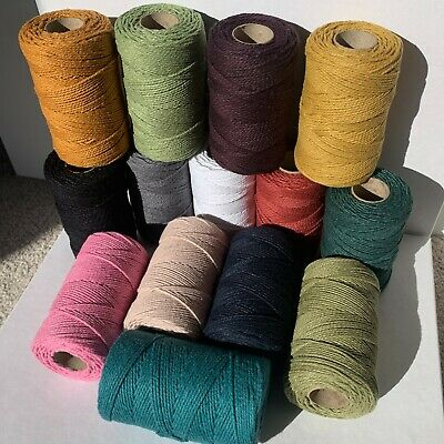 £2.99 • Buy Solid Colour Cotton Bakers Twine String, Perfect For Crafts, Multiple Lengths