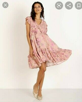 AU160 • Buy Spell And The Gypsy Wild Bloom Mini Dress Blush XXS (fit XS)