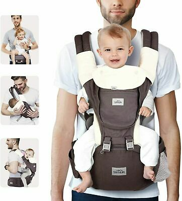 SIMBR Baby Carrier With Hip Seat, Convertible 12-in-1 Ways To Carry, Adjustable  • 39.99£