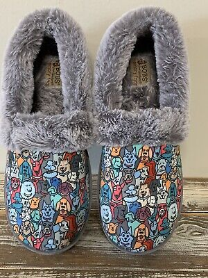 Women's Skechers Bobs Too Cozy Snuggle Rovers Pooch Parade Slippers Size 7 EUC • 18.09£