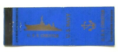£3.95 • Buy Vintage WW2 Matchbook Cover U.S.S. CHESTER Fc21a