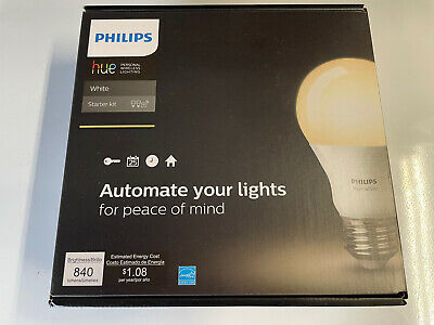 AU23.49 • Buy Philips - Hue A19 60W Equivalent Wireless Starter Kit - White