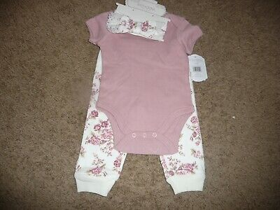 £8.29 • Buy NEW NWT Kyle & Deena Baby Girls Pretty Floral Rose 3 Pc Layette Set 3-6 Months