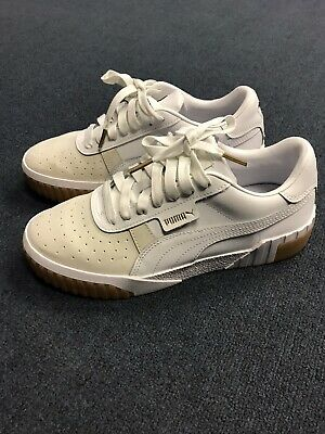 AU15.66 • Buy Women's Puma Sneakers Cali Leather Suede Gum Sneakers Size 9 White And Cream