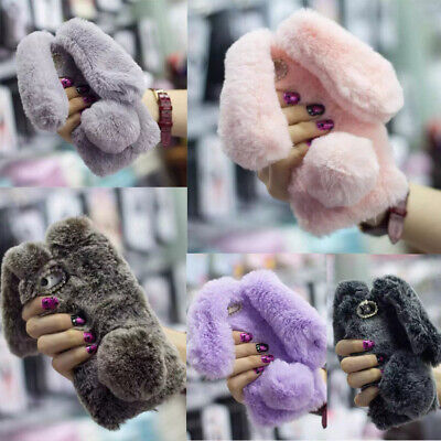 NEW Stylish Women Warm Soft Faux Furry Fur Phone Case Cover For Iphone 6 7 Plus • 5.09£