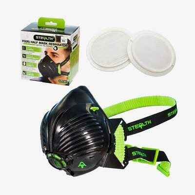 STEALTH P3 Respirator Facemask With Twin HEPAC Filters | Half-mask | Face Mask • 24.99£