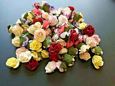 £3.10 • Buy 100 Small Paper Flower Heads, Assorted Or Single Colour Packs , Cardmaking