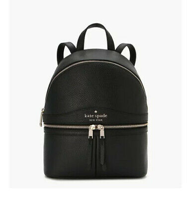 $ CDN149.76 • Buy 🌸NWT KATE SPADE Karina Medium Leather Backpack Black Handbag Satchel Bag