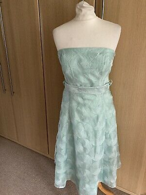 Lovely Debenhams-ROCHA JOHN ROCHA Aqua Occasion Strapless Dress Size 12 • 2.99£