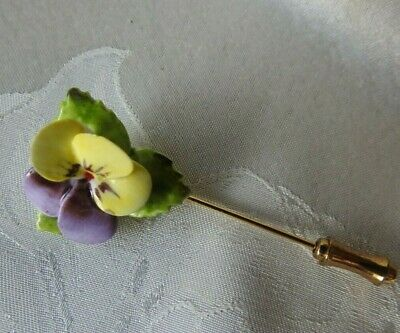Ceramic Flower Brooch / Lapel Pin #78 • 3.40£