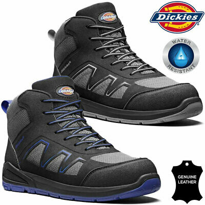 $ CDN42.51 • Buy Mens DICKIES Safety Boots Leather Steel Toe Cap Work Ankle Trainers Hiking Shoes
