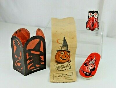 $ CDN58.35 • Buy Vintage Halloween Selection Including Clicker Noisemaker Label And Lantern