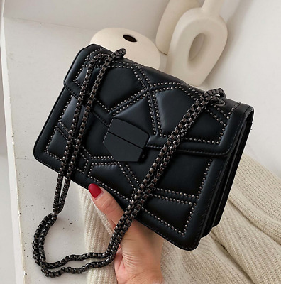 $ CDN34.75 • Buy Women Luxury Rivet Chain Crossbody Bags Shoulder Messenger Bag Lady Handbags