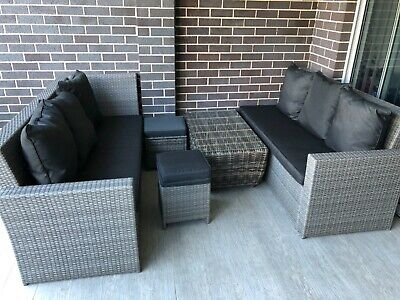 AU750 • Buy Premium Outdoor Furniture 4 Piece With Glass-top Center Table