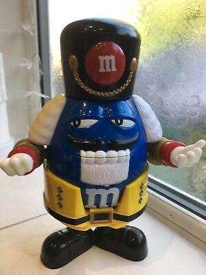 M&M's Sweet Dispenser Blue Nutcraker Soldier • 19.99£